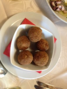fish stuffed arancini